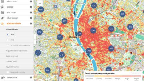 bűnözési térkép